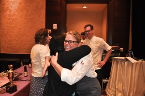 Congratulating Chef Jen. Photo by Sandra Morriss.