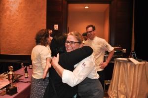 Congratulating Chef Jen. Photo by Sandra Morriss.